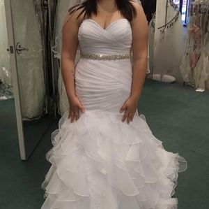 David bridal wedding dress